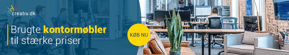 Brugte kontormøbler til stærke priser fra creativ.dk